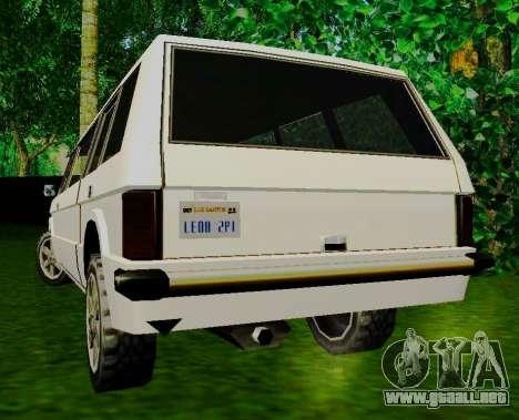 Huntley Limousine para GTA San Andreas vista posterior izquierda