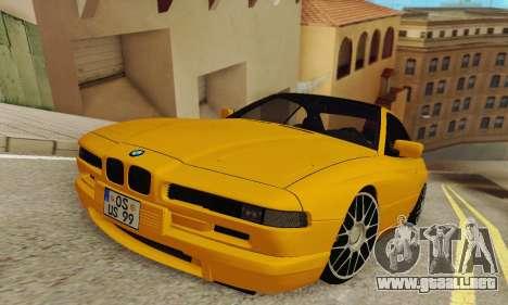 BMW 850CSI 1996 para GTA San Andreas vista posterior izquierda