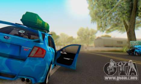 Subaru Impreza Blue Star para vista inferior GTA San Andreas