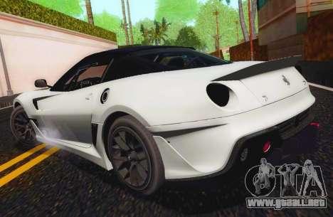 Ferrari 599XX Evolution para GTA San Andreas left