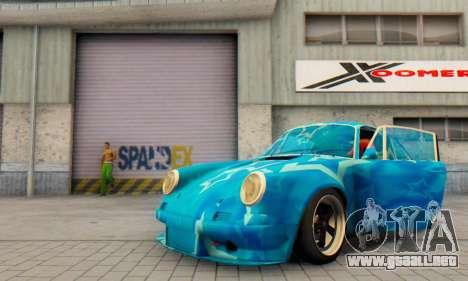 Porsche 911 Blue Star para visión interna GTA San Andreas
