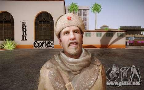 Viktor Reznov из CoD: Black Ops para GTA San Andreas tercera pantalla