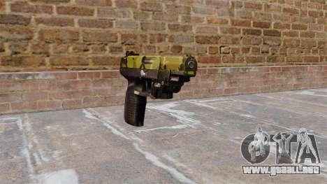 Pistola FN Five seveN LAM Woodland para GTA 4