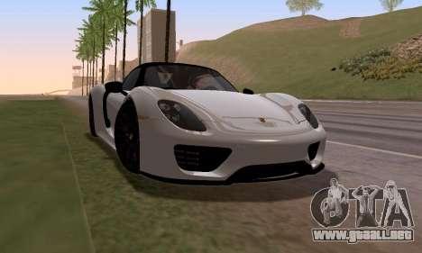 Porsche 918 2013 para GTA San Andreas