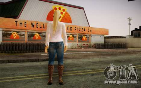 Sarah from DoA para GTA San Andreas segunda pantalla