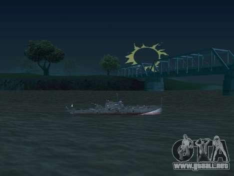 Bote Torpedo tipo G-5 para vista lateral GTA San Andreas