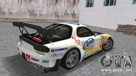Mazda RX7 FD3S RE Amamiya Arial para GTA Vice City left