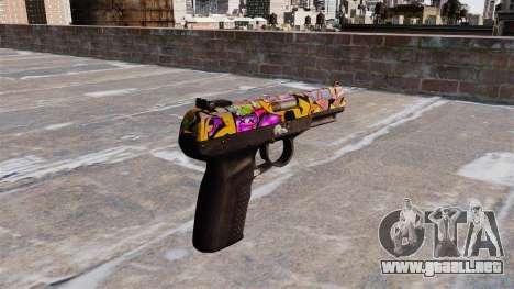 Pistola FN Five seveN Graffiti para GTA 4 segundos de pantalla
