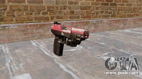Pistola FN Five seveN LAM Rojo urbano para GTA 4