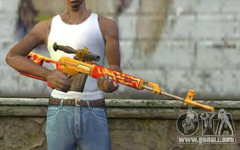 El Dragunov Sniper Rifle (Punto Blanco) para GTA San Andreas tercera pantalla