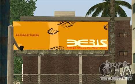 HQ Billiboards para GTA San Andreas sucesivamente de pantalla