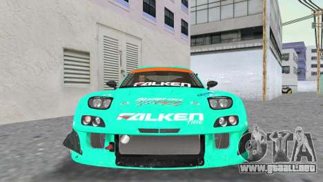 Mazda RX7 FD3S RE Amamiya Falken para GTA Vice City vista posterior
