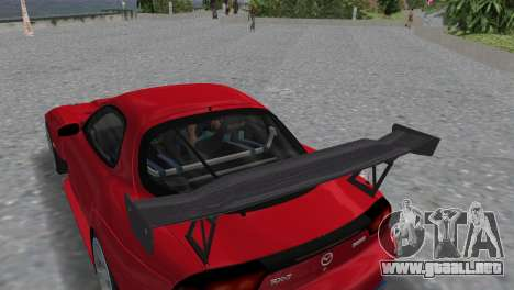 Mazda RX7 FD3S RE Amamiya Road Version para GTA Vice City vista posterior