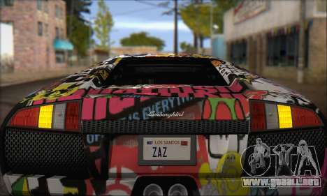 Lamborghini Murcielago 2005 Mismas Ediciones de  para visión interna GTA San Andreas