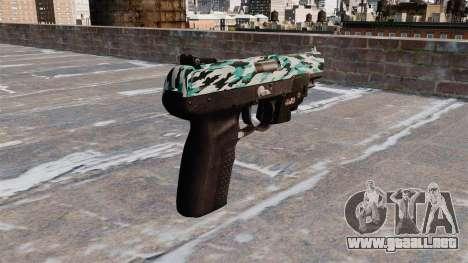 Pistola FN Five seveN LAM Aqua Camo para GTA 4 segundos de pantalla