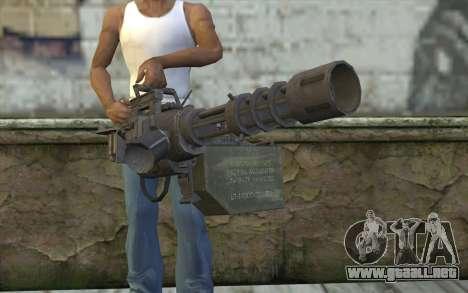 Nueva Minigun para GTA San Andreas tercera pantalla