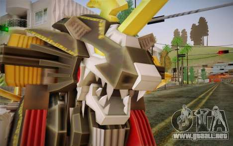 Energy Liger from Zoids para GTA San Andreas tercera pantalla