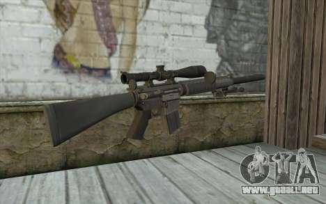 SC25 Sniper Rifle para GTA San Andreas segunda pantalla