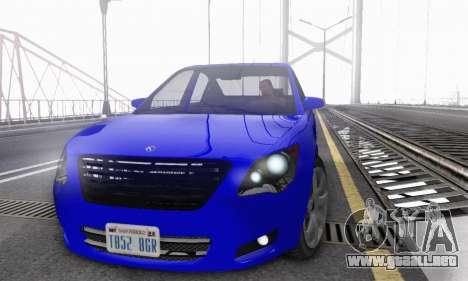 Karin Asterope V1.0 para GTA San Andreas vista hacia atrás