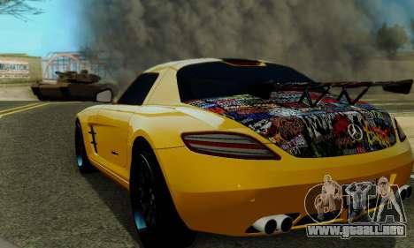 Mercedes SLS AMG Hamann 2010 Metal Style para vista lateral GTA San Andreas