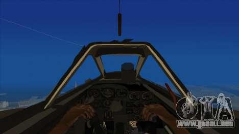 Messerschmitt Me.262 Schwalbe para GTA San Andreas vista hacia atrás