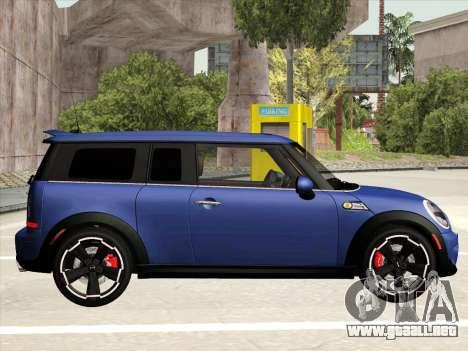 Mini Cooper Clubman JCW para GTA San Andreas vista posterior izquierda