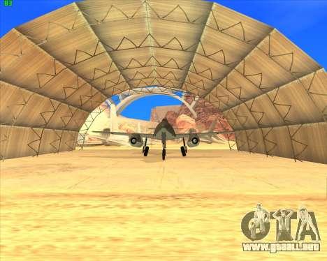 Messerschmitt Me.262 Schwalbe para GTA San Andreas left