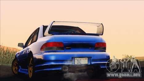 Subaru Impreza 22B STi 1998 para visión interna GTA San Andreas