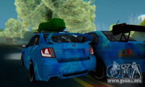 Subaru Impreza Blue Star para GTA San Andreas vista hacia atrás