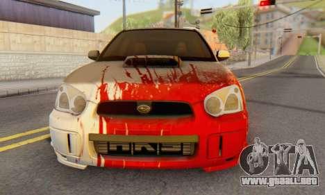 Subaru Impreza WRX para GTA San Andreas left