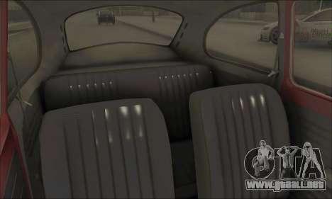 1973 Volkswagen Beetle para la vista superior GTA San Andreas