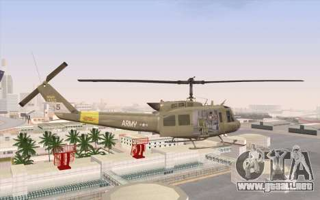 UH-1 Huey para GTA San Andreas left