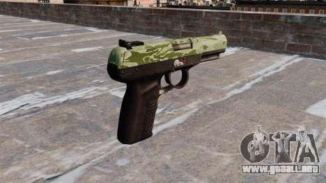 Pistola FN Five seveN Verde Camo para GTA 4 segundos de pantalla