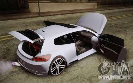 Volkswagen Scirocco para GTA San Andreas vista hacia atrás