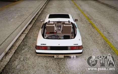 Mazda RX-7 GSL-SE 1985 HQLM para vista inferior GTA San Andreas