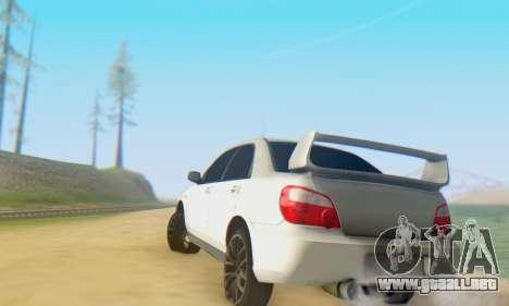 Subaru Impreza WRX para visión interna GTA San Andreas