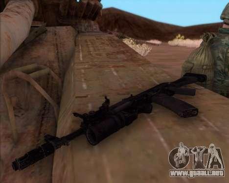 Kalashnikov AK-74M para GTA San Andreas segunda pantalla
