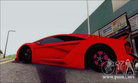 Zentorno GTA 5 V.1 para visión interna GTA San Andreas