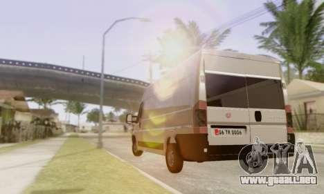 Fiat Ducato Ekip Otosu para la visión correcta GTA San Andreas