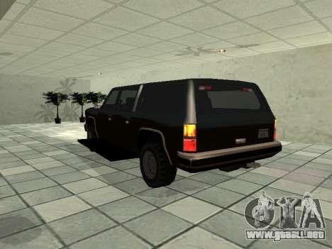 SWAT Original Cruiser para GTA San Andreas vista posterior izquierda