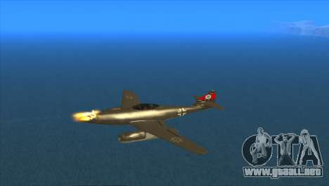 Messerschmitt Me.262 Schwalbe para visión interna GTA San Andreas