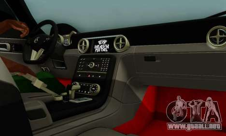 Mercedes SLS AMG Hamann 2010 Metal Style para vista inferior GTA San Andreas