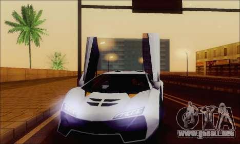 Zentorno GTA 5 V.1 para las ruedas de GTA San Andreas