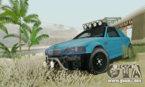 BMW M3 E46 Offroad Version para visión interna GTA San Andreas