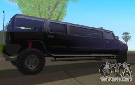 Hummer H2 Limousine para GTA San Andreas left