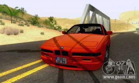 BMW 850CSI 1996 para vista lateral GTA San Andreas