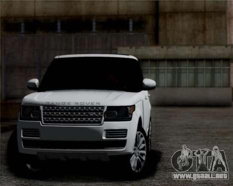Range Rover Vogue 2014 para GTA San Andreas left
