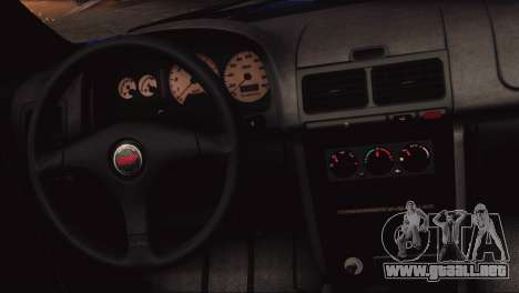 Subaru Impreza 22B STi 1998 para vista lateral GTA San Andreas