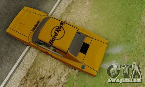 Dodge Charger 1969 Hard Rock Cafe para visión interna GTA San Andreas