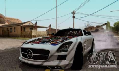 Mercedes SLS AMG Hamann 2010 Metal Style para GTA San Andreas left
